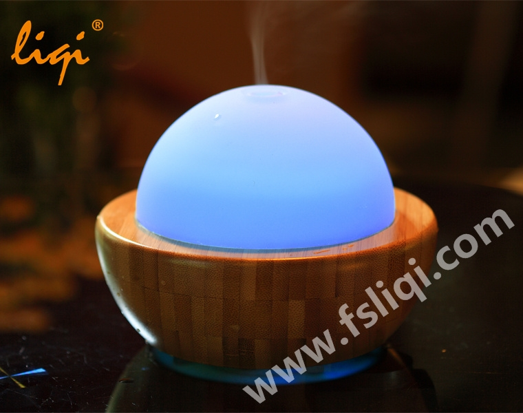 LF-MD013 Flying Saucer Shape Bamboo Aroma Diffuser
